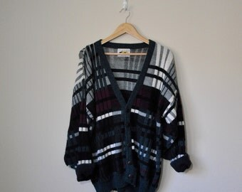 90's Grunge Le Tigre Sweater / Oversize Sweater / Not A Mystery Sweater / Le Tigre Cardigan Grunge Cardigan XL Grunge Sweater