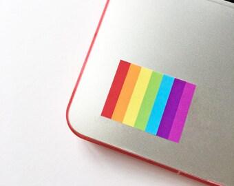 Gay pride sticker, LGBT stickers, Gay flag sticker, lgbt pride, Pride laptop sticker, Glossy rainbow stickers, Rainbow flag stickers