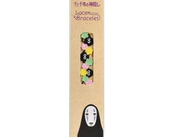 Lace Bracelet / Spirited Away Studio Ghibli / Susuwatari and confetti