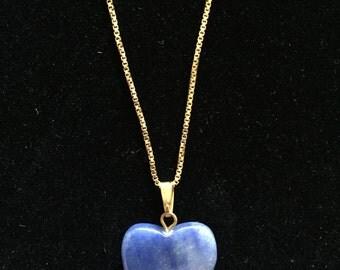Lapis Blue Heart