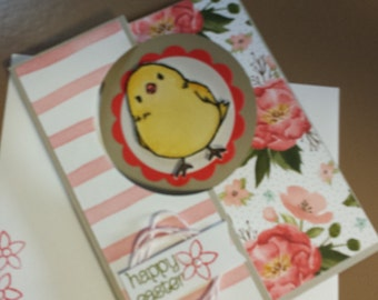 Happy Easter card with cute chick!