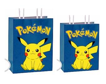 Pokemon Party Favor Bag Printable Instant Download