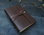 "Leather Journal / 6x4"" / Handmade Notebook / Sketchbook A6 / Lake Bindery/Writing Journal / Travel Book / Brown / Mens / Womens / Blank book"