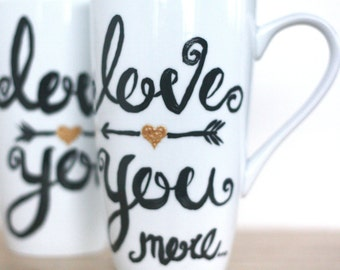 Mothers Day From Daughter-Mothers Day Gift-Personalized Engagement Gifts-I Love You More Mug-Unique Gifts For Her-Cute Gifts For Girlfriend