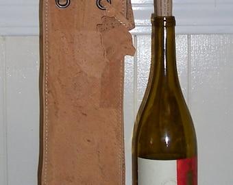Cork wine carrier.  Cork wine bag.  A great gift