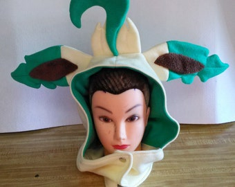 Leafeon Themed Hoodie/Hat