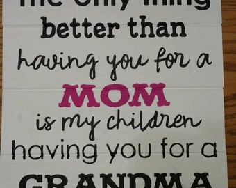 The Only Thing Better Than Having You For A Mom Sign