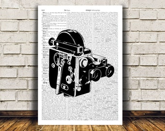 Retro print Vintage camera poster Modern decor Antique art RTA361