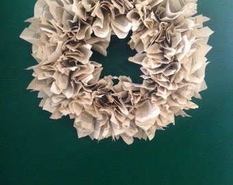 Book Page Wreath (large)
