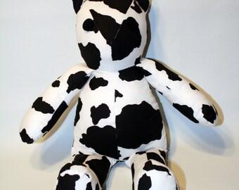Cow Print Vintage Style Teddy Bear