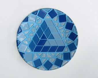 Penrose Triange mandala - Mosaic Mandala - Mosaic art - Mosaic wall decor - Geometric art