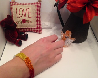 Red Ombre Bracelet