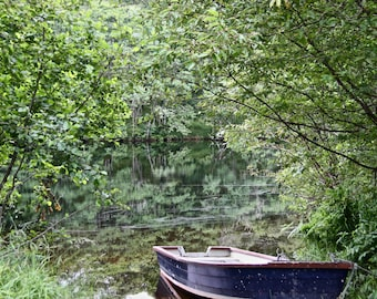 Fishing art print fisherman gift for him. Print gift fisherman rowboat. Fishing gift for men art print for Dad; fishing gift for Grandfather