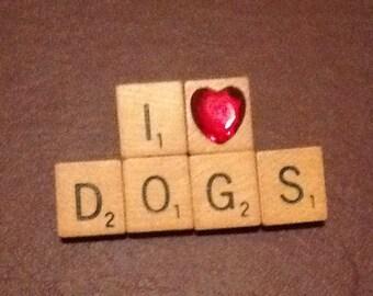 I Heart Dogs Pin