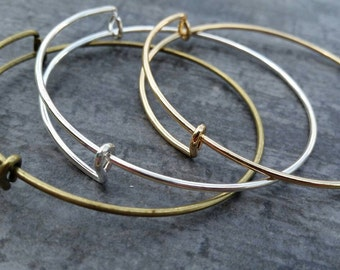 Bangle Blanks, Wire Bangle bulk, Gold Bangles, Bronze Bangles, Silver Charm Bangle Blanks, designer inspired Bangles, Bulk Bangle supplies