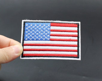 USA Flag Iron On Patch Embroidered patch 7.2x5cm - PH157