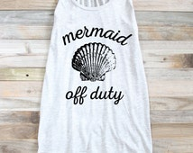 MERMAID TANK - Mermaid Lover Tank - Summer Tank - Spring Tank - Graphic Tank Top - Tanks For Women - Tanks For Teens - Tanks For Girls