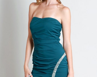 Beaded Pleats Tube Dress
