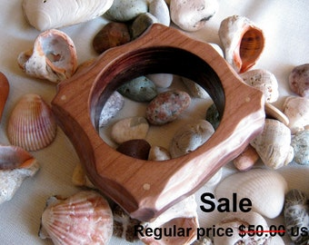 SALE Handmade Wooden Curved Bracelet