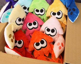 handmade Splatoon inspired squid plush
