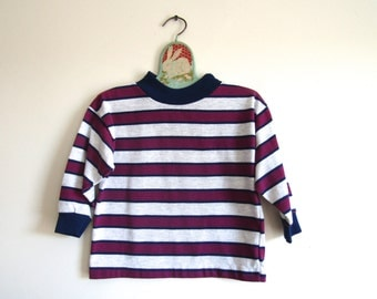 Purple striped t shirt etsy for Purple and black striped t shirt