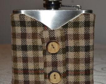 Hip flask with  Tweed jacket