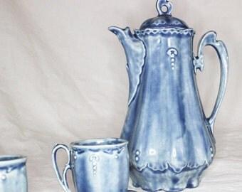 Vintage Blue Watery Glaze Tea Set