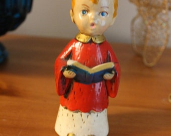Christmas Blowout Sale! - Vintage Christmas Caroler - 1950 chalkware