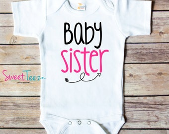 Bodysuit for Baby Sister Baby Brother Arrow Bodysuit Shirt New Baby