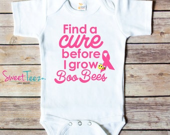Find a Cure Shirt Breast Cancer Baby Bodysuit Awareness Toddler Shirt