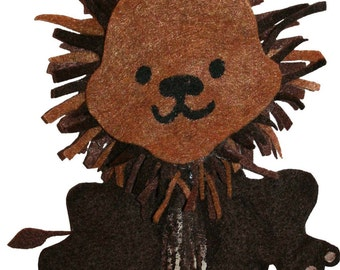 Brown Lion from the popular children's book, We Are Colorful Friends