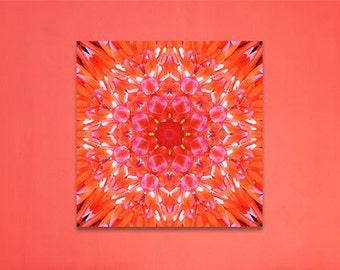 Blossom Mandala | Seven Chakras | Visionary Wall Art | Feng Shui - Fire Element | Sacred Geometry