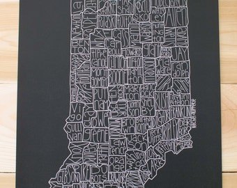 Indiana County Map- Black & White