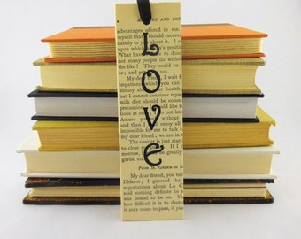 Vintage Book Mark | Valentines Book Mark | Stay-Put Book Mark | Gift for Book Lover | Recycled bookmark  | Gift for Her | Gift under 10