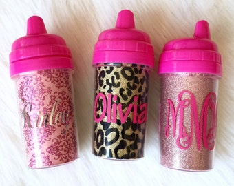 Glitter Sippy Cups, Personalized Glitter Sippy Cups, Name sippy cups, Personalized sippy cup, sippy cup, toddler cup, monogrammed sippy cup