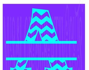 Split letter CHEVRON  monogram  A   SVG Cut file  Cricut explore filescrapbook vinyl decal wood sign cricut cameo Commercial use