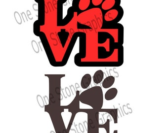 Love svg,puppy love svg,paw print svg,paw print,love,svg,pet svg,pet lover svg,dog svg,cat svg,animal svg,love with paw print svg
