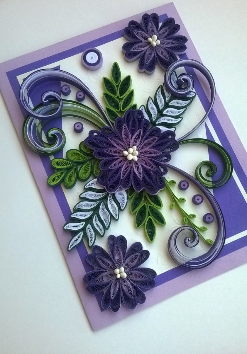 quilling card quilled mother day cardquilled birthday