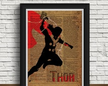 Thor  art | hammer | postcards thor| newspaper design | thor poster | home interior | thor print | thor gift | christmas gift