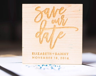 Modern Save the Date Stamp - Personalized Save the Date Stamp, Save Our Date Stamp, Engagement Stamp, Date Stamp (Style 19)