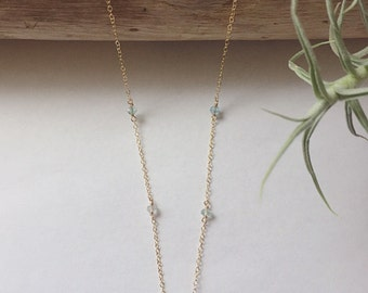 Baby Blue Opal Necklace