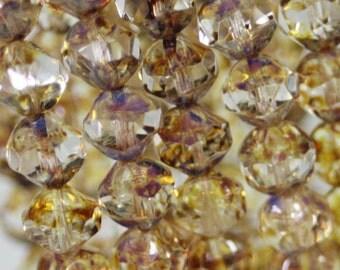 Czech Central Cut Beads 8mm 15Pcs