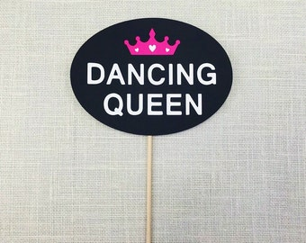 Dancing Queen Photo Booth Prop - Wedding Party Photo Prop - Birthday Party Photobooth Prop - Crown - Tiara - FULLY ASSEMBLED