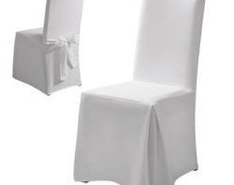Chair covers, cover in white