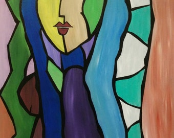 Abstract Acrylic Painting - Girl