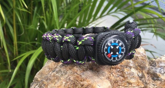 Nautical Paracord Anklet or Bracelet,  adjustable  and comes with a compass