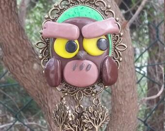 Little Owl in Polymer Clay OOAK