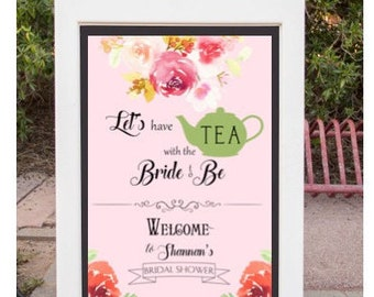 Bridal shower / kitchen tea sign