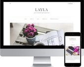 Premade Blogger Template - Responsive Blogger Template - Modern Blogger Template - Minimalist Template - Photography Template - Layla