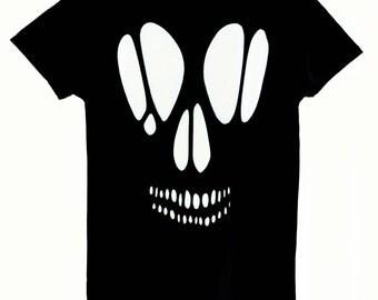 Off the Shoulder Skull Cutout Top / Pastel Goth Skull Shirt